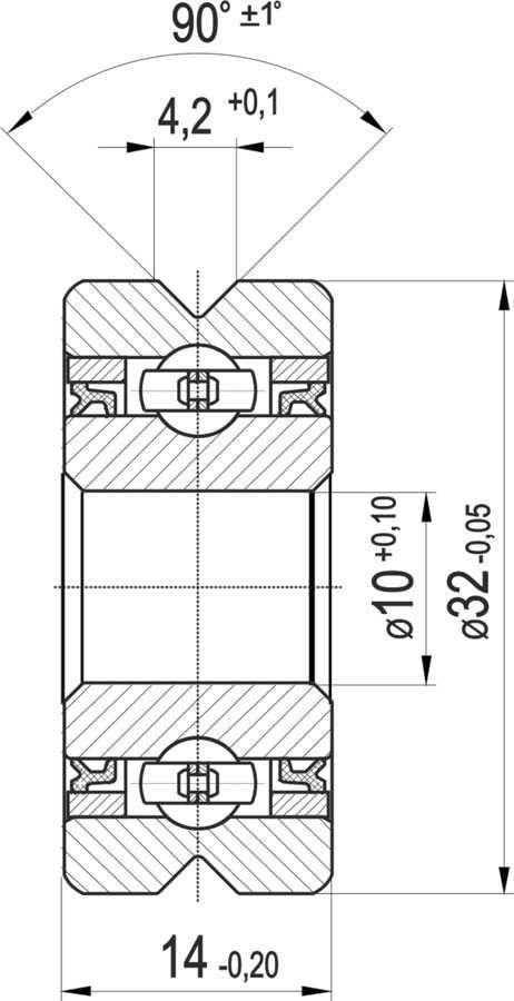 Rolka toczna RPK 1032V DLC