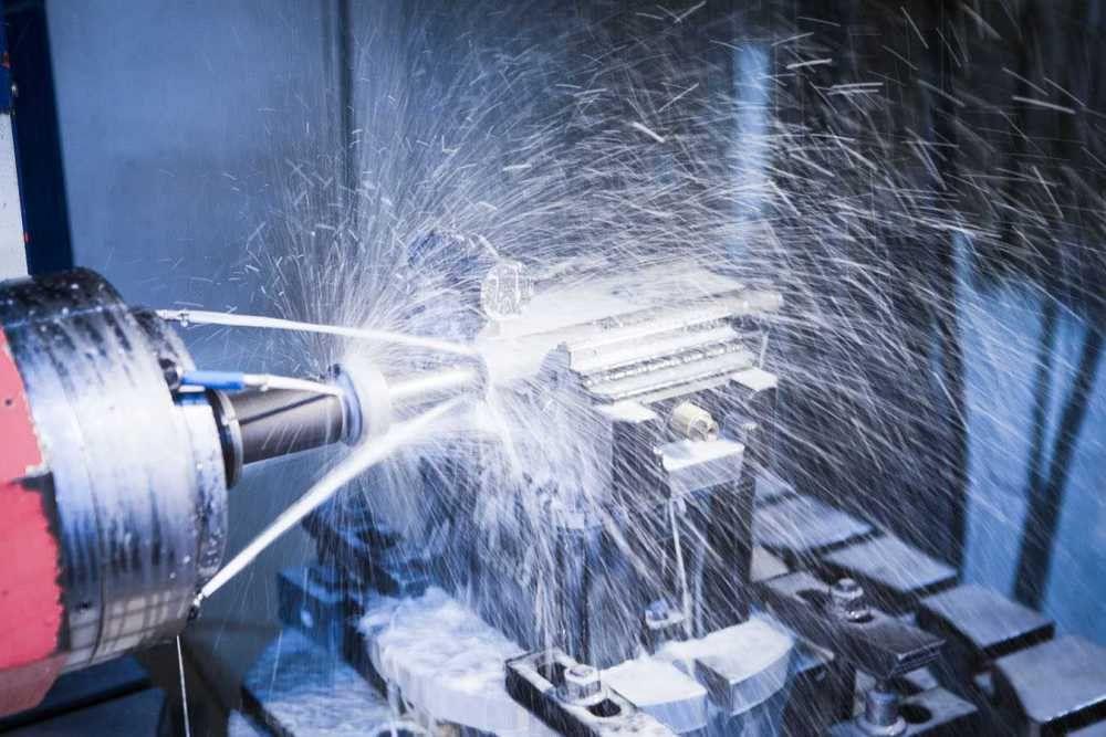 CNC machining of machine parts