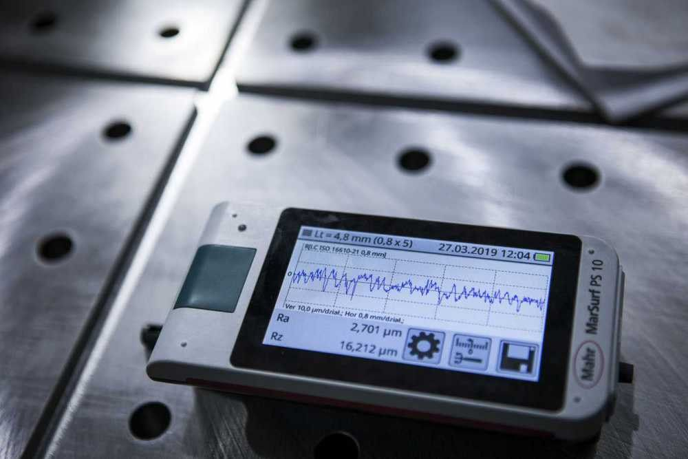 Measurement of machine roughness