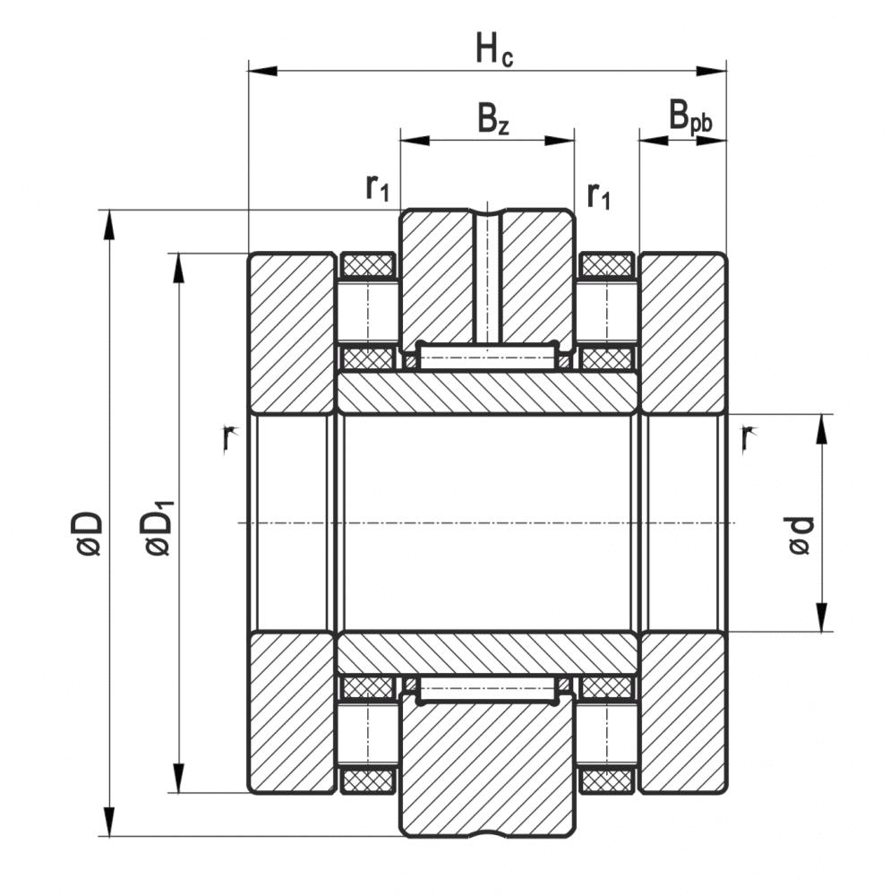 Längszylinderrollenlager - Nadellager